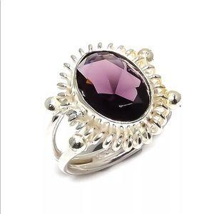 Jewelry - Amethyst Gemstone Silver Ring